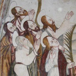 pintura mural igrexafeita restauración evangelistas