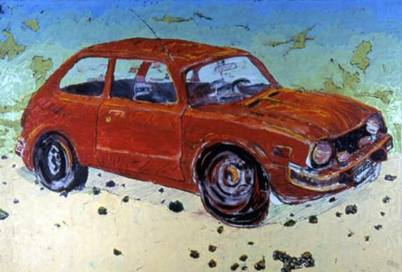 Painting was larger than car. Oil was so seductive, as was scale. I don't remember sleeping much at this point in my life.