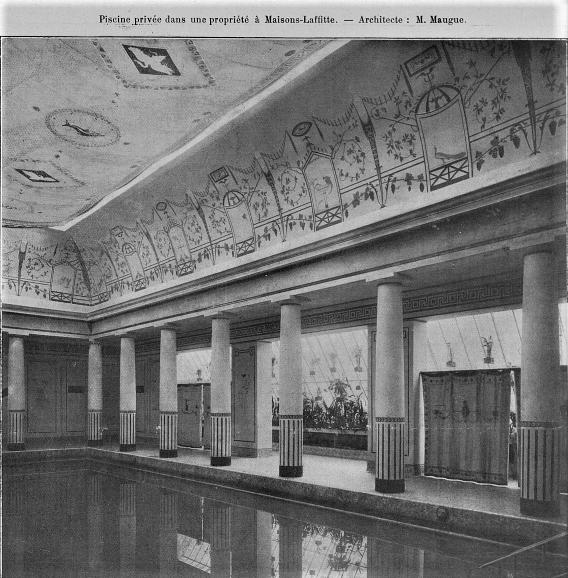 La piscine de la villa Edifra de Franck Jay Gould