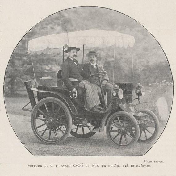 Course de voitures électriques en 1899