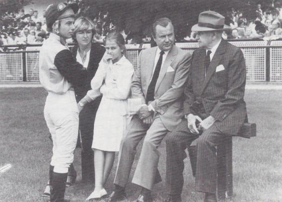 Freddy et Criquette avec leurs père Alec et Grand-père William