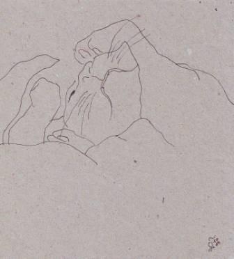Tusche auf Papier, 13,5 x 12,5 cm