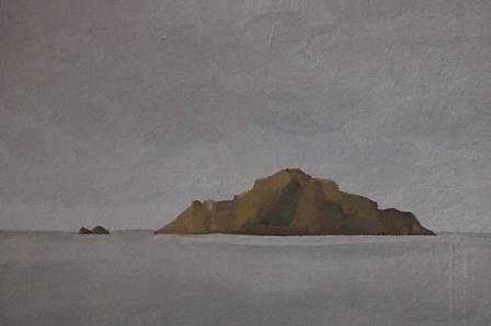 Sardinien, Mischtechnik auf Papier, 15 x 10,5 cm, 2018
