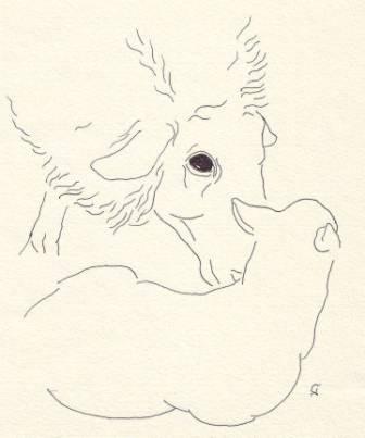 Tusche auf Papier, 12 x 10 cm
