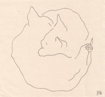 Tusche auf Papier, 13 x 12 cm