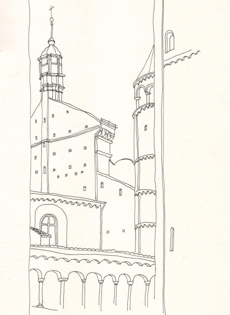 Cremona, Tusche auf Papier, 26 x 18 cm