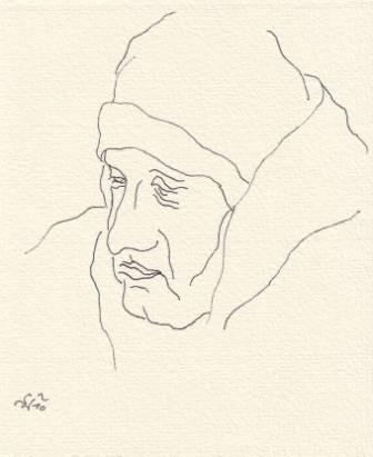 Tusche auf Papier, 10,5 x 9 cm