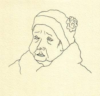 Tusche auf Papier, 10 x 10 cm
