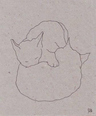 Tusche auf Papier, 12,5 x 10,5 cm
