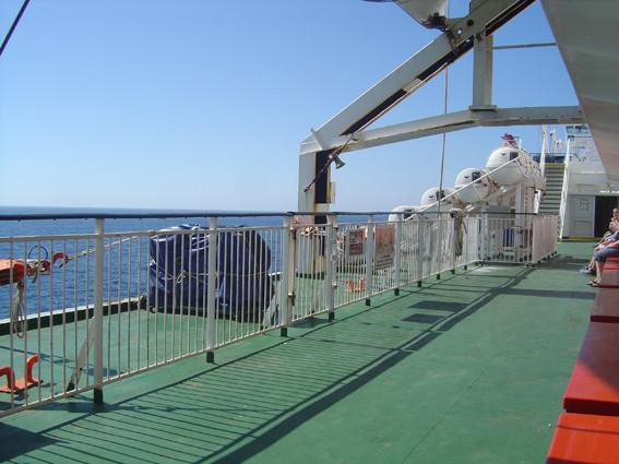 O mar esteve relativamente calmo