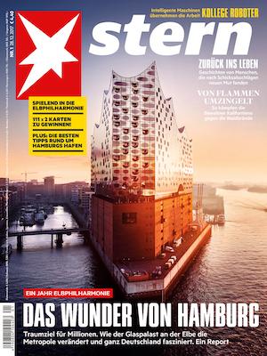 Stern Titel: Die Elbphilharmonie - Foto von Luftbild.Hamburg