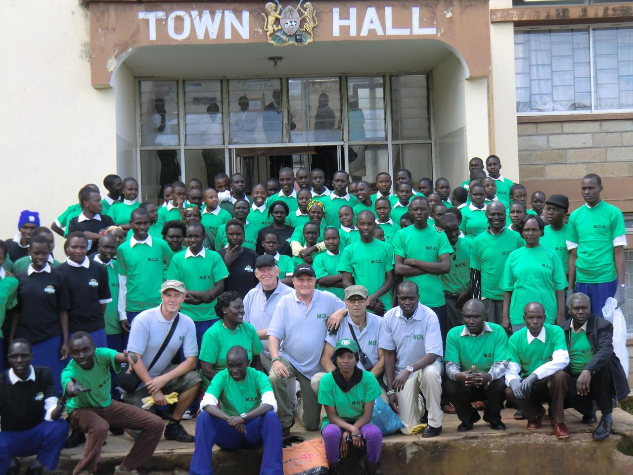 Gruppenfoto vor der Aktion