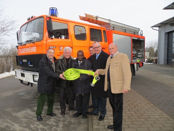 Zur weiteren Brandbekämpfung in der Region Baringo, wird in Gersthofen Unterstützung angefordert.