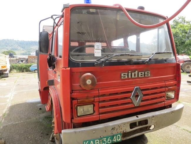 Das Feuerwehrauto im District Baringo war nicht mehr einsatzfähig.