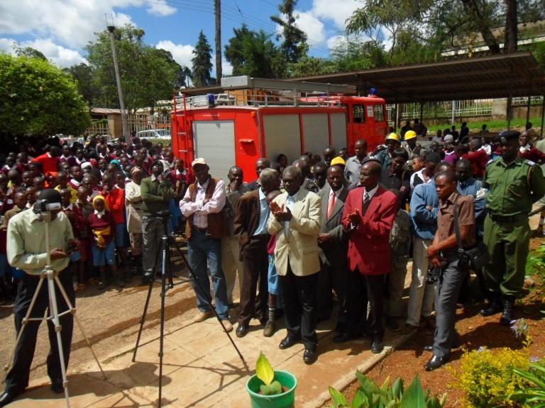 Die Übergabe des Fahrzeugs und die Einweisung der Feuerwehrleute war ein großes Fest.
