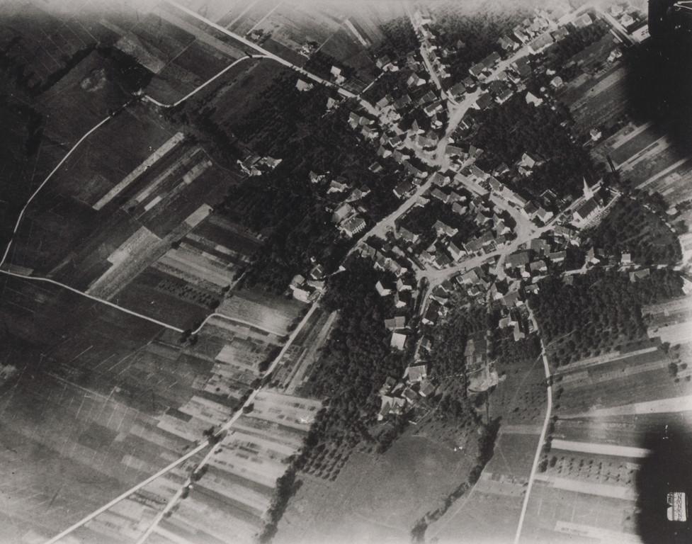 Luftaufnahme aus einem Ballon, 24.8.1918