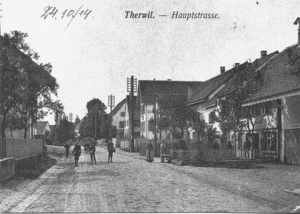 Die Hauptstrasse, heute Bahnhofstrasse, um 1910