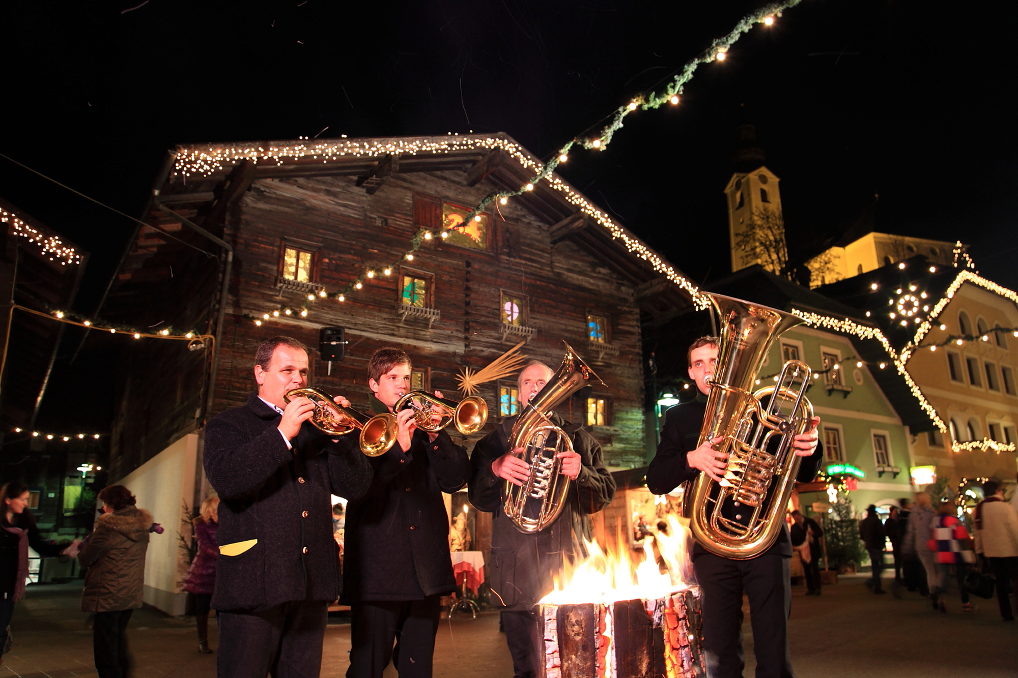 Musikanten am Weihnachtsmarkt