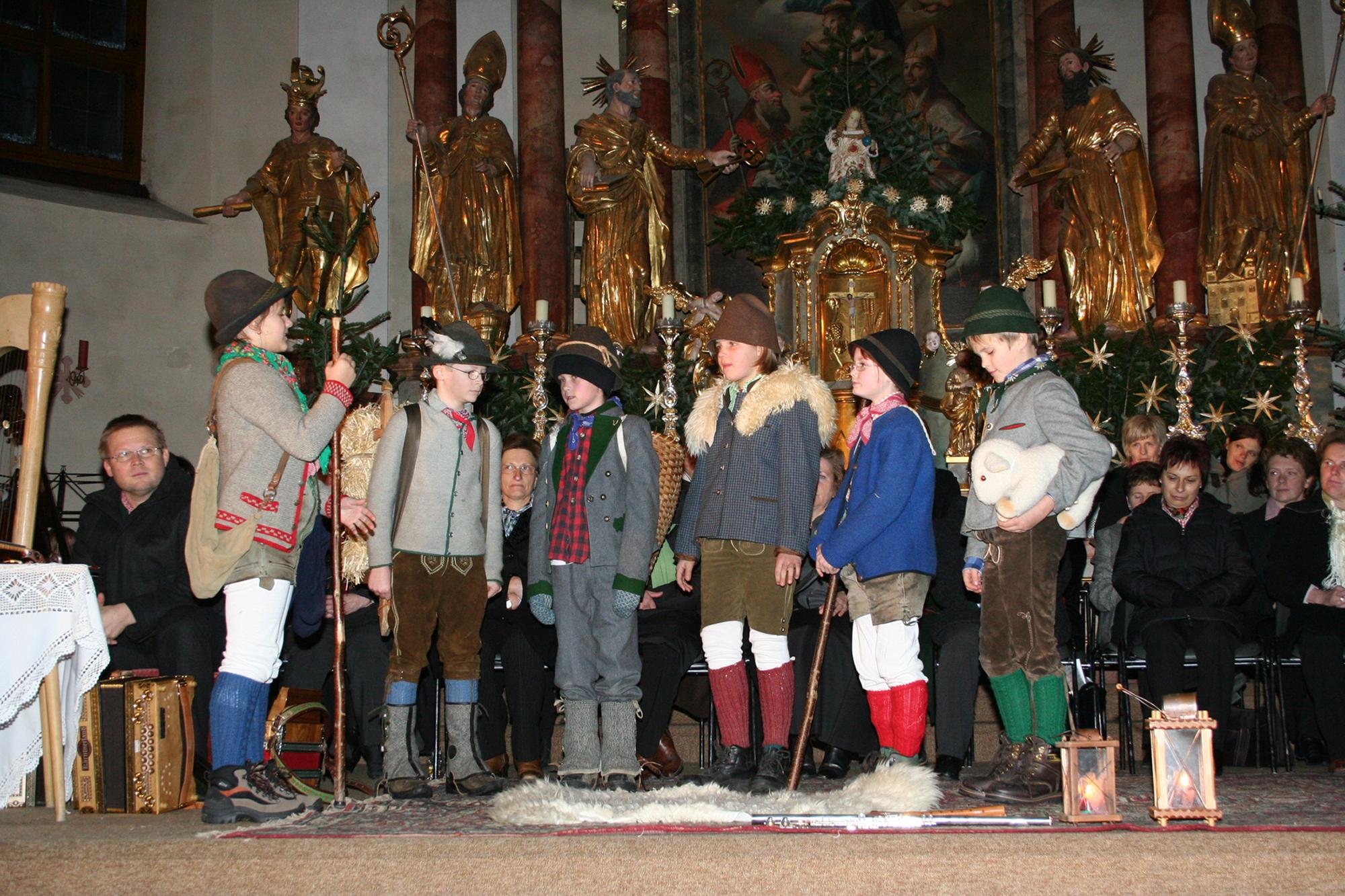 Teatro dei pastori ai canti d'Avvento a Grossarl