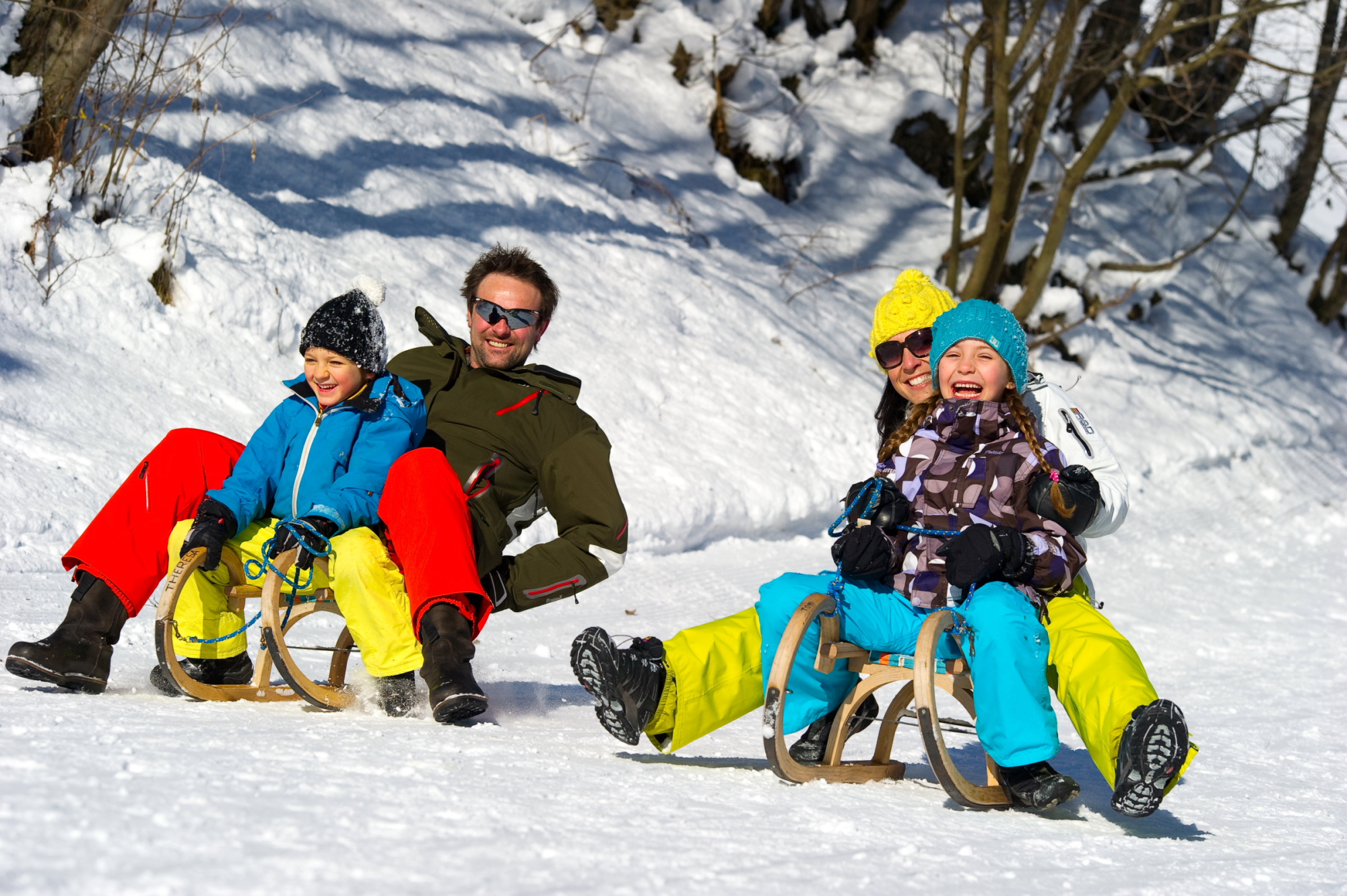 Sledding in Grossarltal