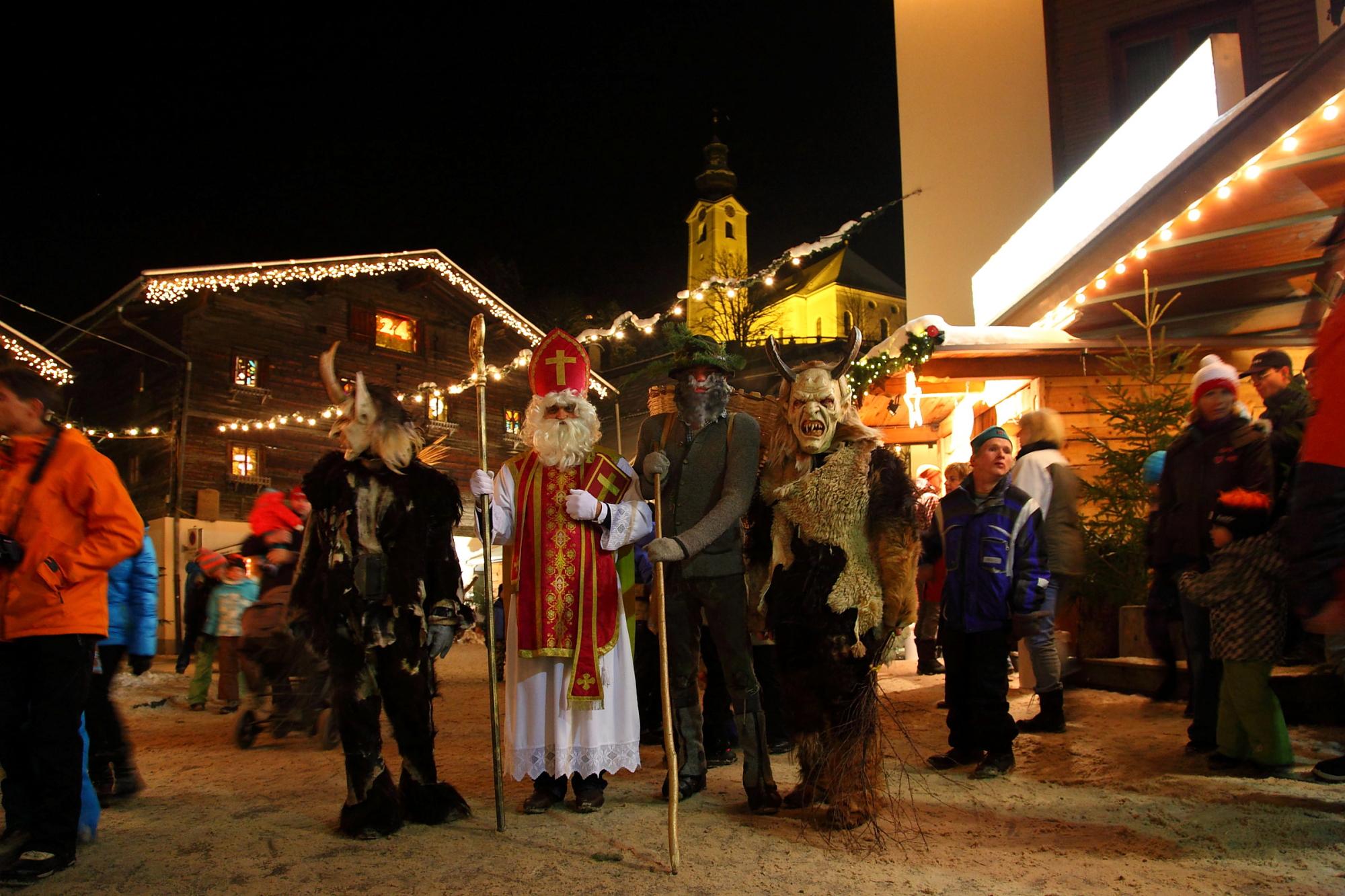 Krampus, Perchten e San Nikolaus a Grossarl