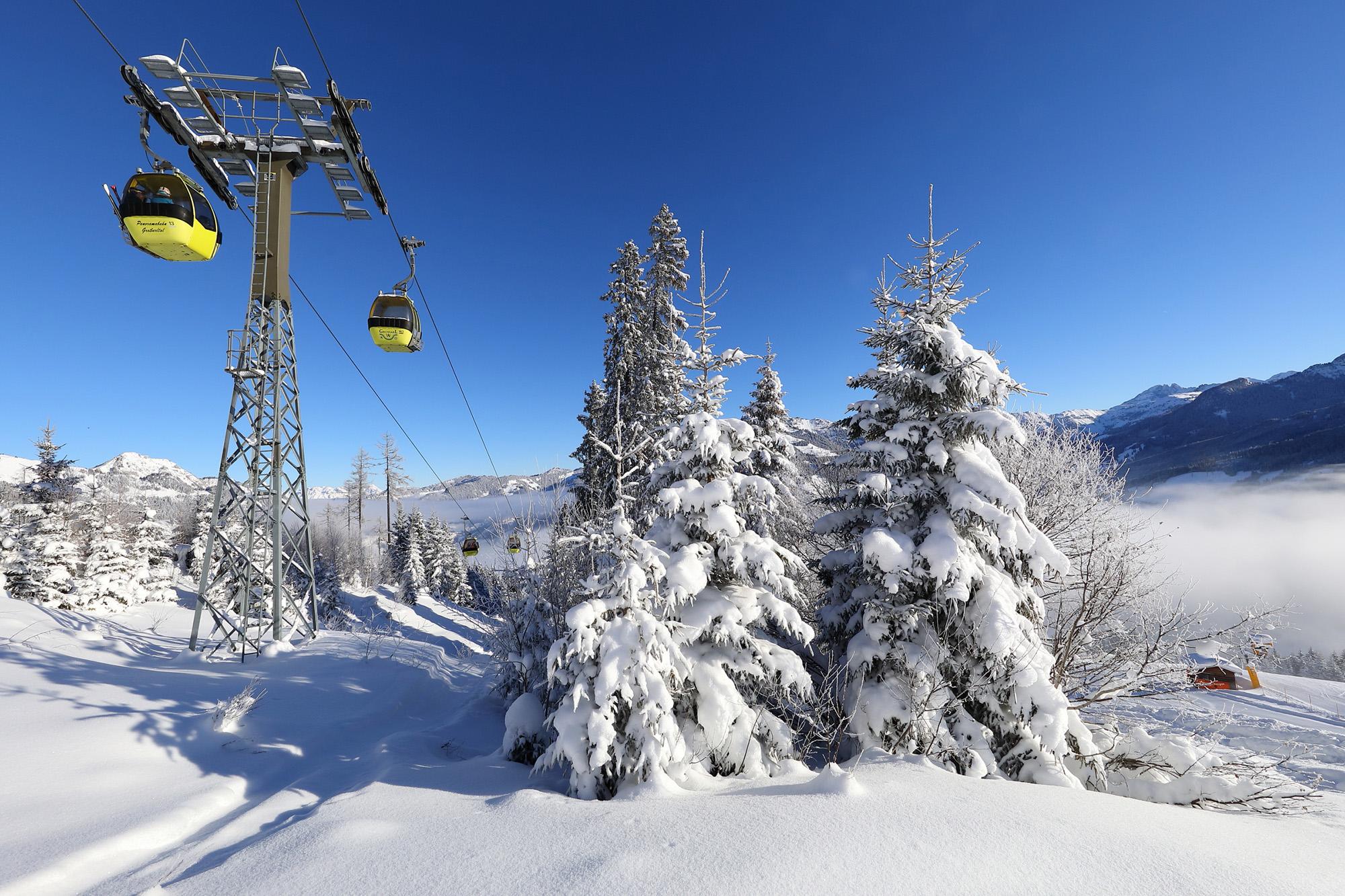 Ski fahren im Großarltal