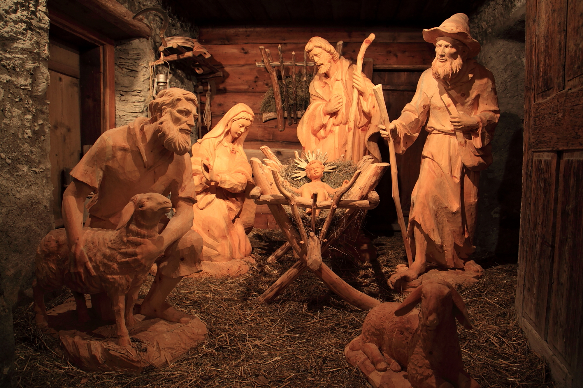 Village nativity scene in Grossarl