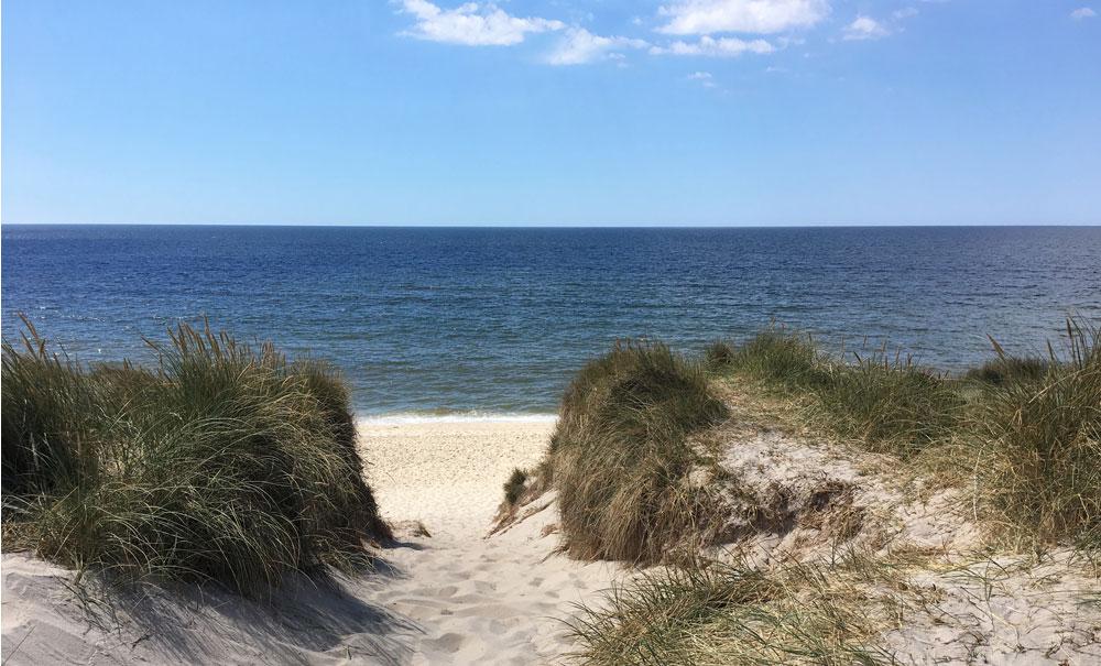 Der direkte Strandpfad
