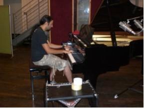 Klavieraufnahme in den Peppermint Park Studios