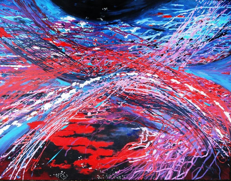 ATLANTIS, Acryl auf Leinwand, 70 x 80 cm, 380 Euro