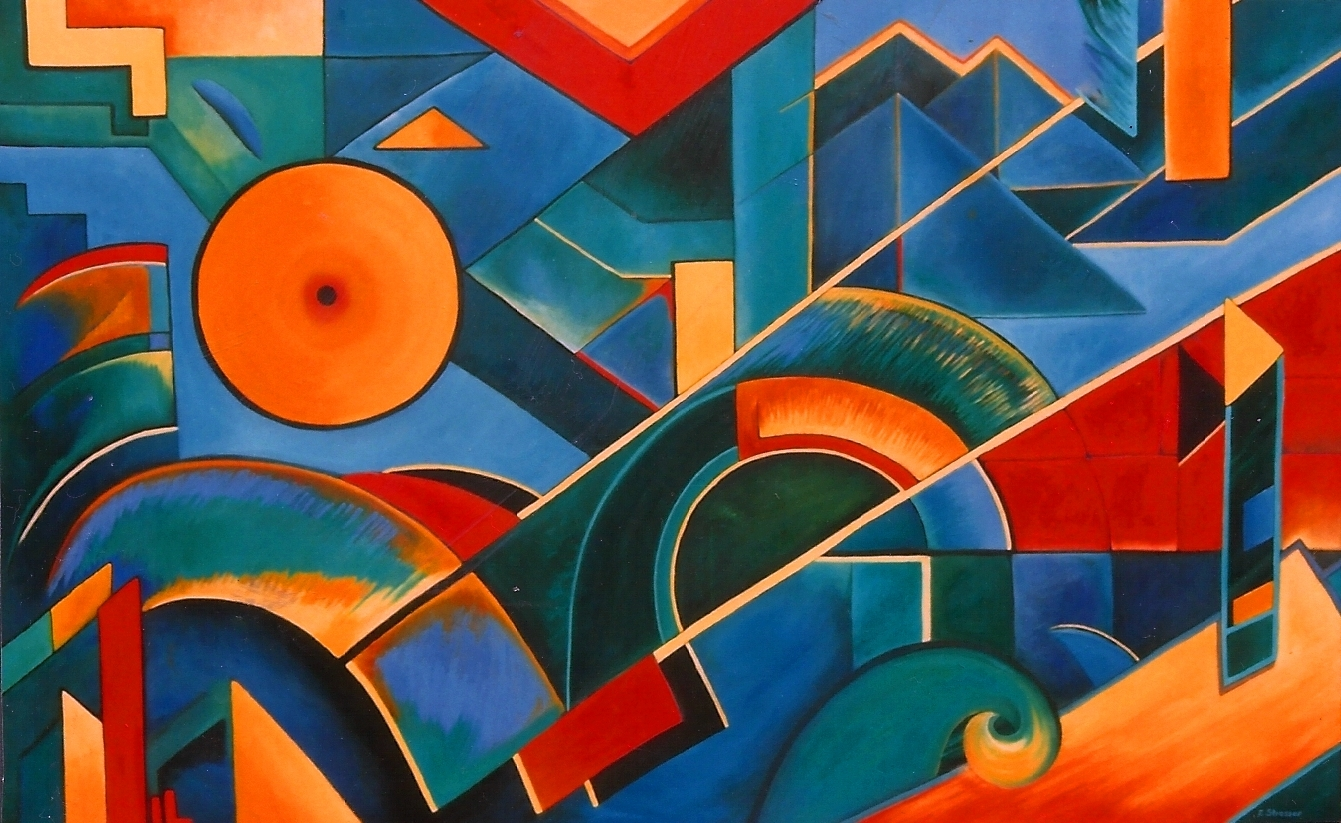 COLOR OF SOUND, Ölgemälde, 100 x 140 cm, 350 Euro