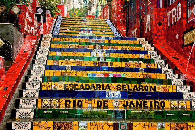 scalinata Selaron a Rio de Janeiro (Brasile)