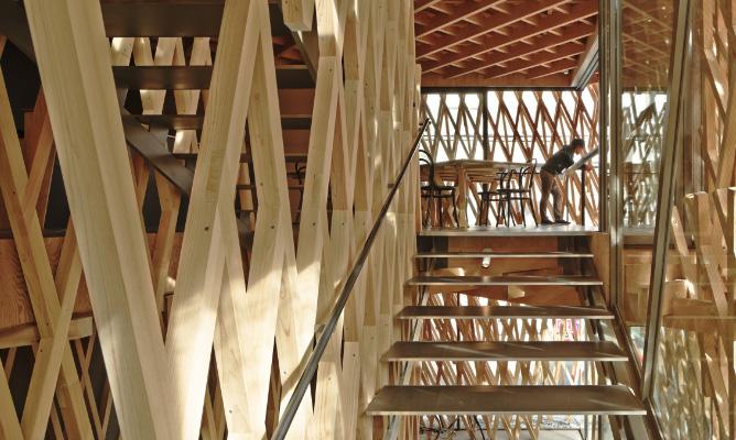 SUNNY HILLS (Tokyo, Giappone, 2014) arch. Kengo Kuma