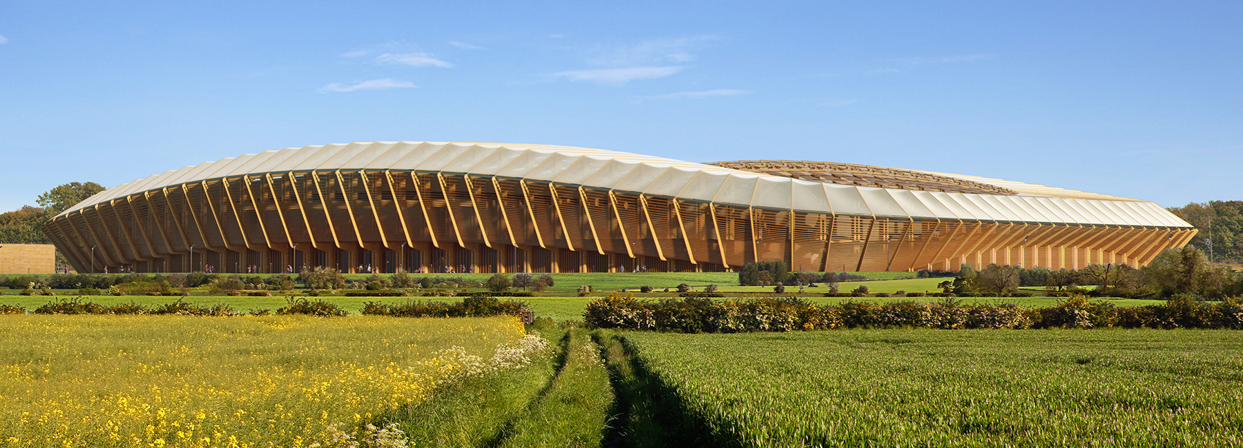 FOREST GREEN ROVERS STADIUM (Stroud, Inghilterra, 2018-20) Arch. Zaha Hadid Associated (postumo)