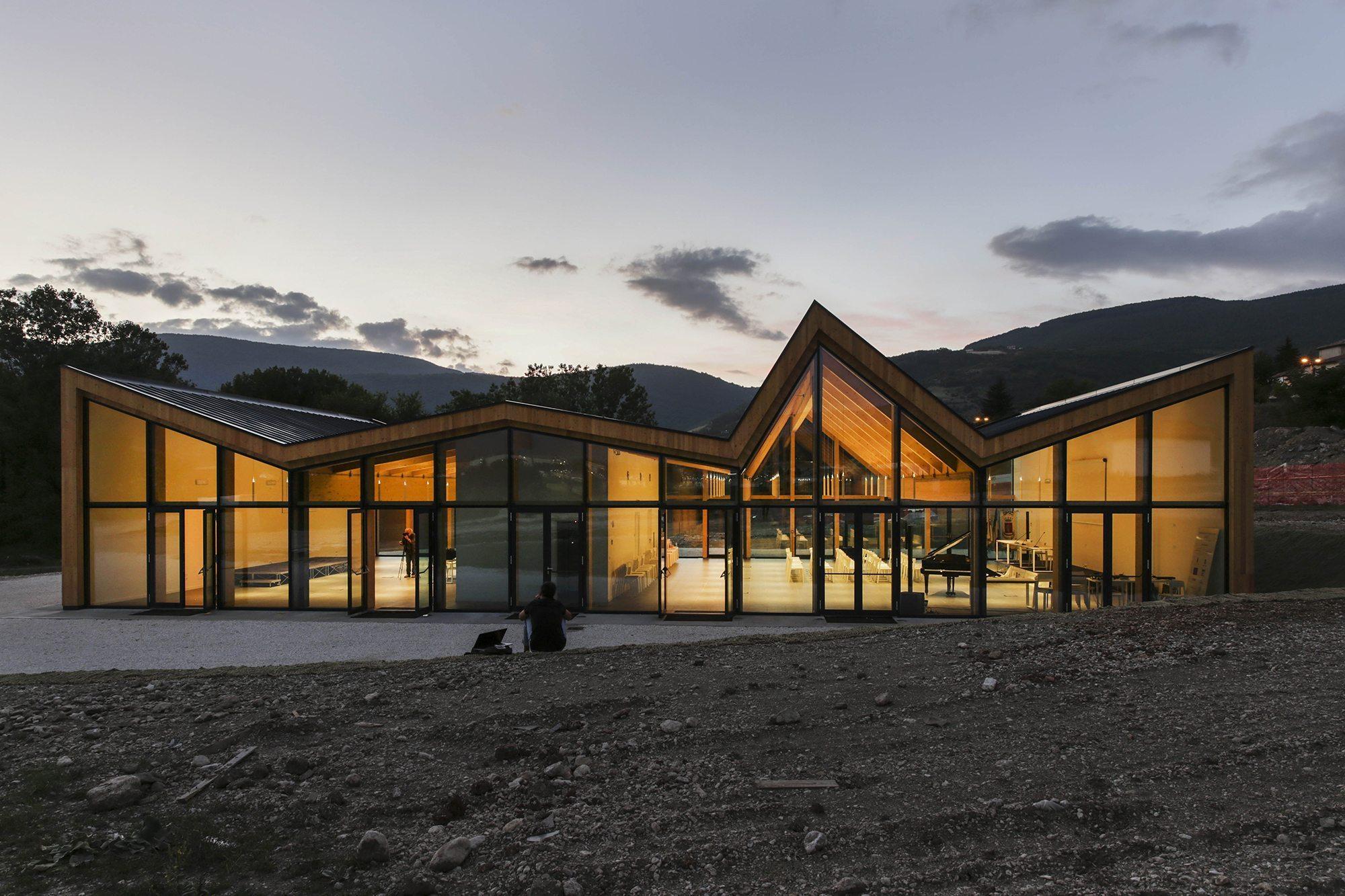 AUDITORIUM DI NORCIA (Italia, 2017) arch. Stefano Boeri