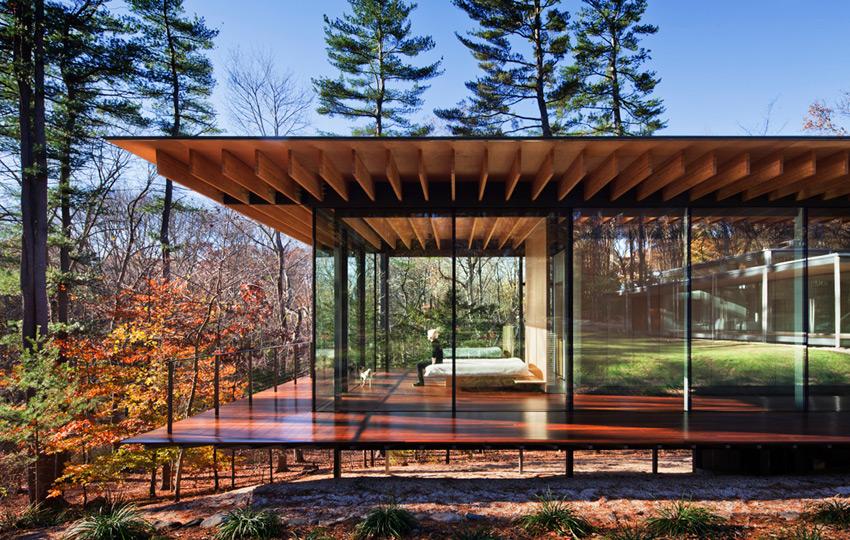 GLASS AND WOOD HOUSE (Connecticut, USA, 2010) arch. Kengo Kuma