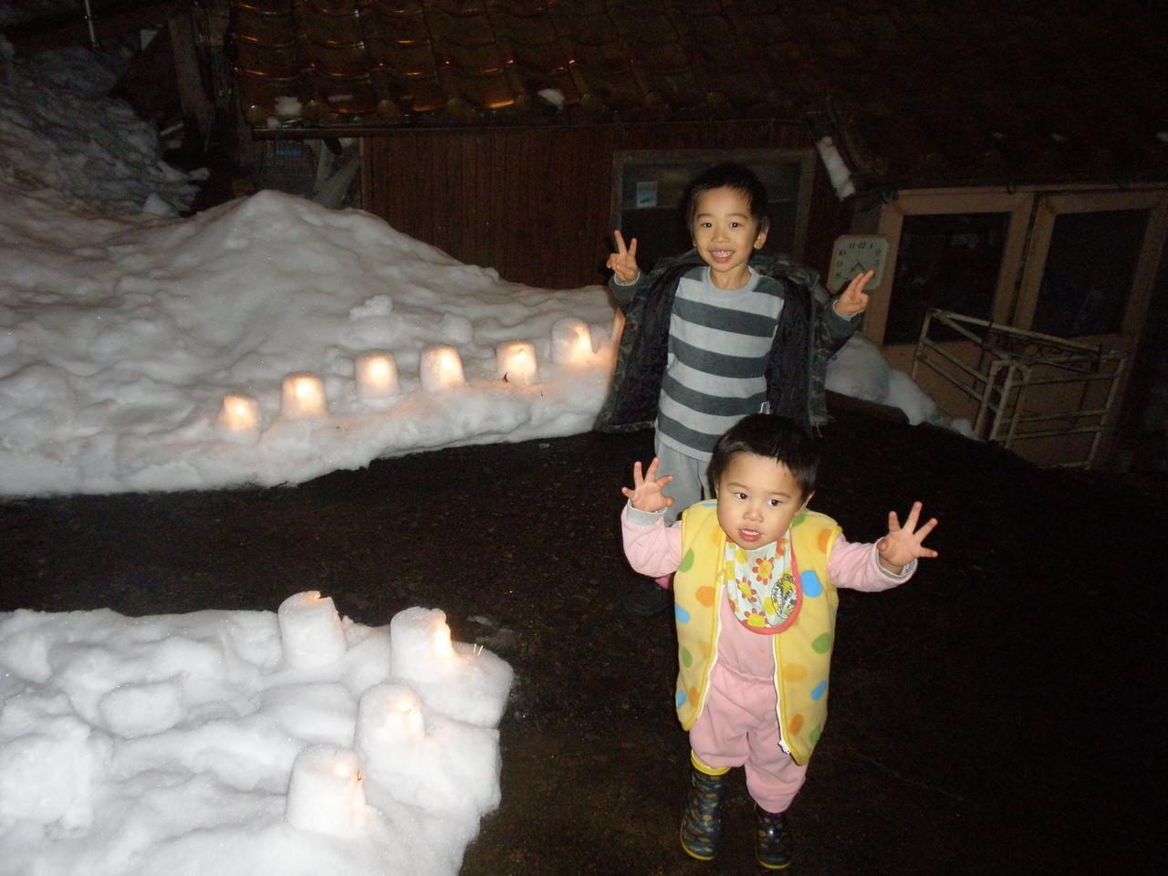 雪のランタン