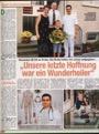 Die letzte Hoffnung: Ein Wunderheiler - Pressebericht + Foto  Zeitschrift Lisa