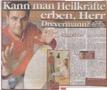 Rheuma durch Heilpraktiker geheilt - Pressebericht + Foto Zeitschrift Bild