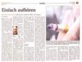 Raucherentwöhnung durch Hypnose - Pressebericht + Foto  Stadtanzeiger Hamm
