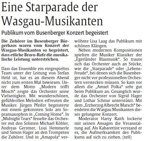 Nachberichterstattung, Rheinpfalz, Pirmasenser Rundschau, 11.05.2012