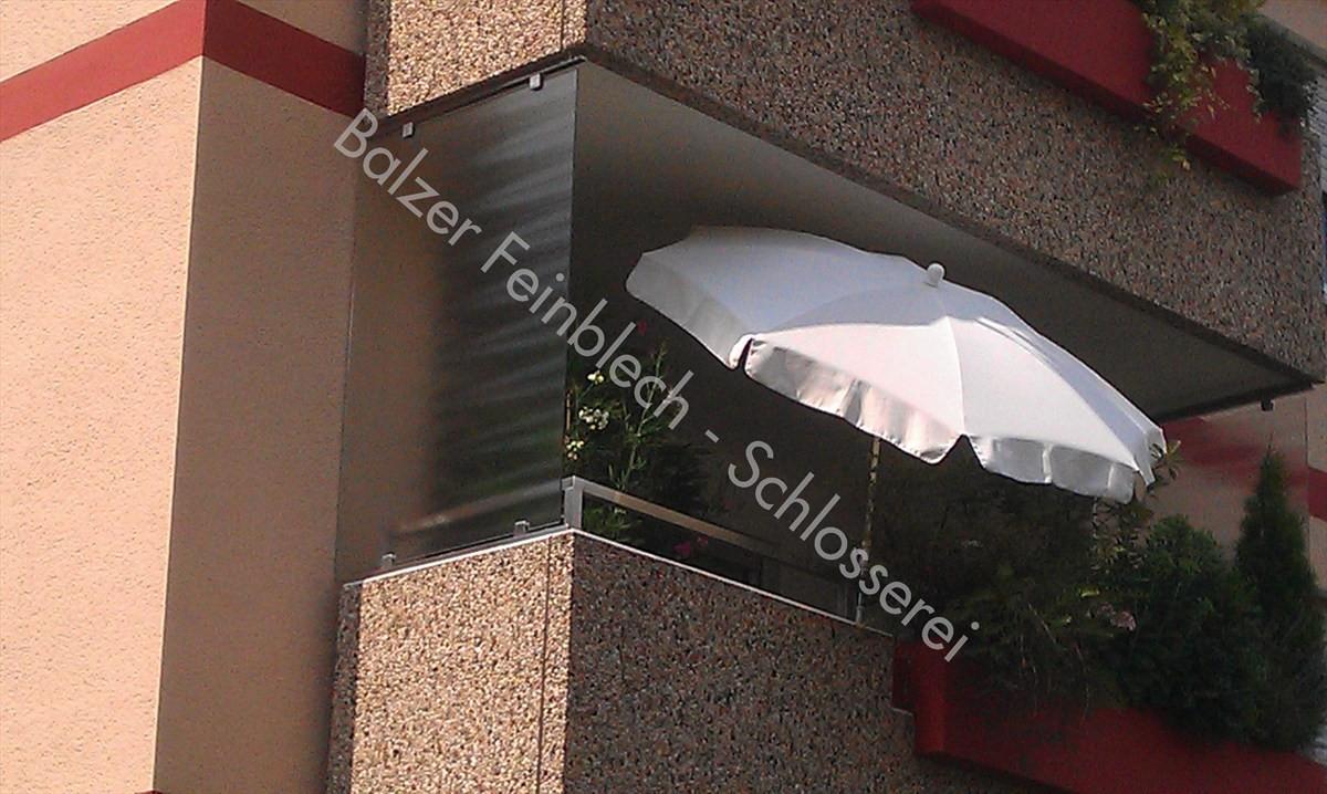 Sichtschutz Edelstahl Milchglas