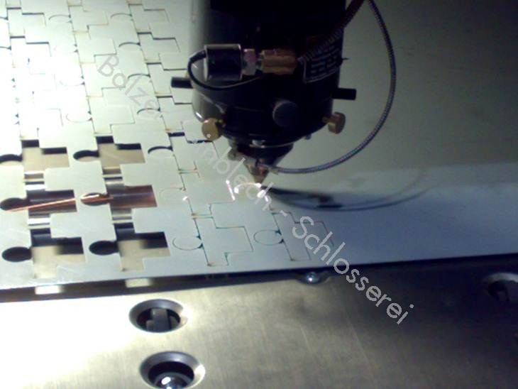 Laser bei Prozess