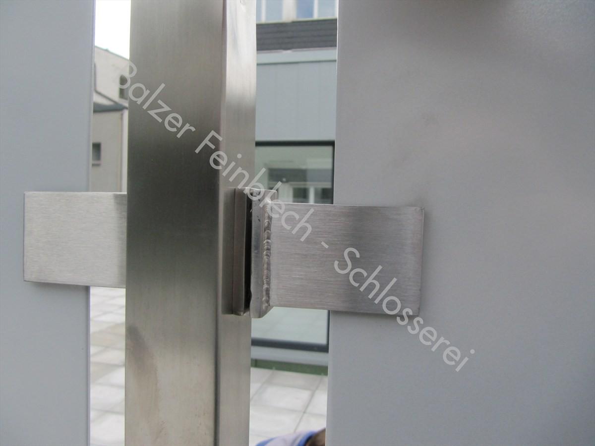 Sichtschutz Edelstahl Alu-Platten Pulverbeschichtet