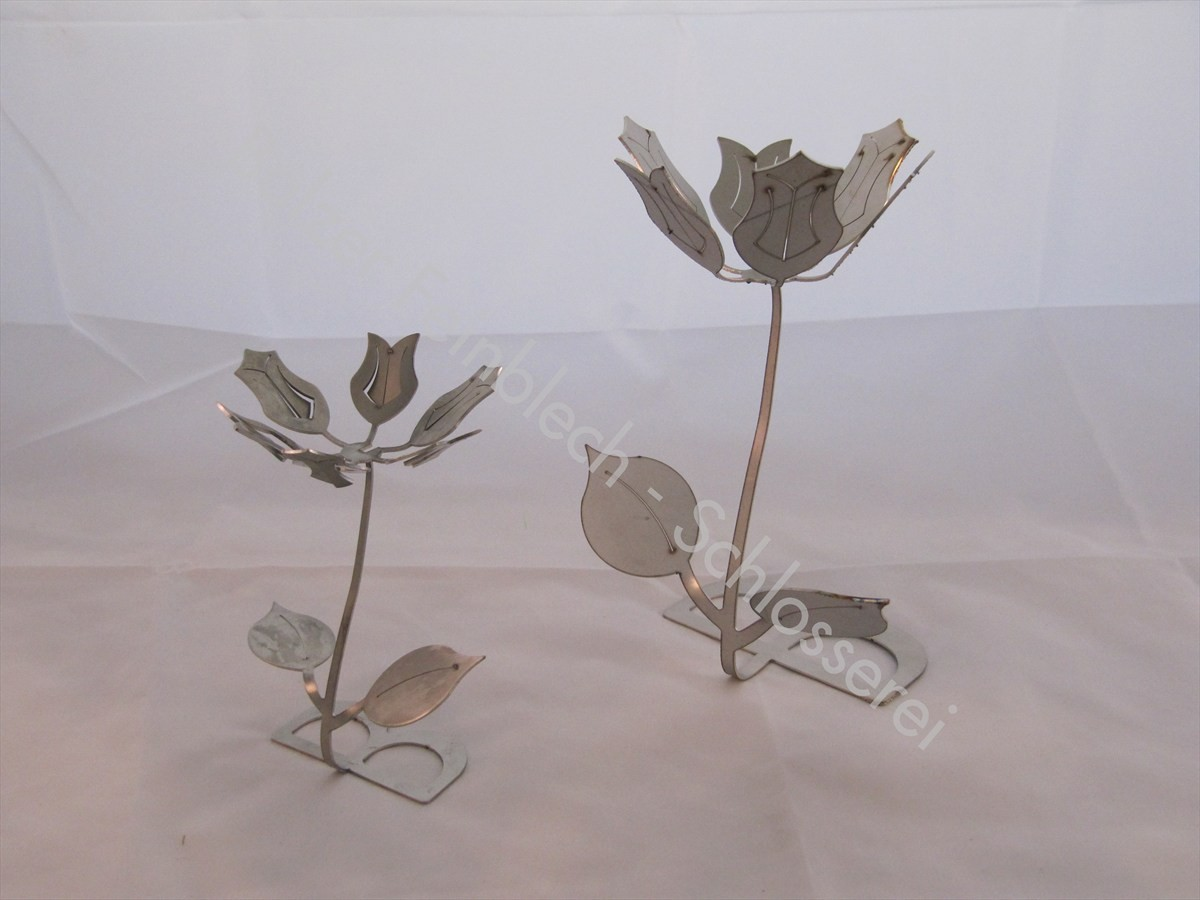 Blume aus Edelstahl