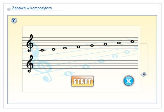 ćwiczenie interaktywne z portalu scholaris.pl - zabawa w kompozytora - po kliknięciu w planszę można tworzyć własne melodie
