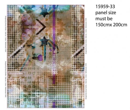 200 x 150 cm Stenzo-Panel Gesicht, 32€, Digital Print Jersey, 95% BW, 5% EL