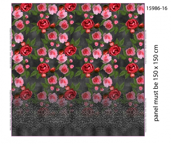 150 x 150 cm Stenzo-Panel Rosen, 25€, Digital Print Jersey, 95% BW, 5% EL