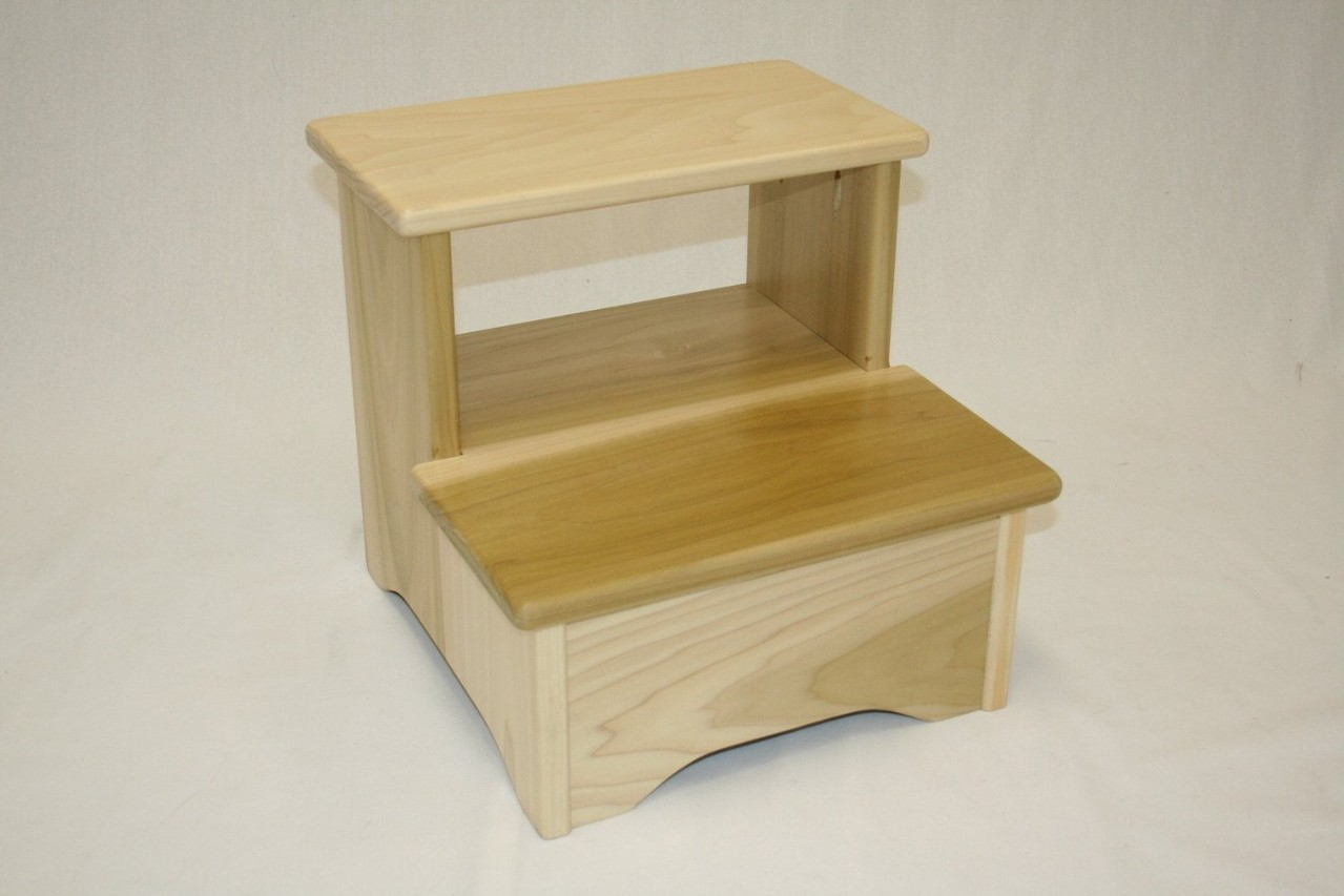 Amish Handcrafted Bed Stool Various Colors Ehemco