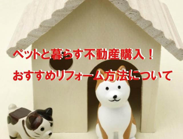 ペットと暮らす不動産購入!おすすめリフォーム方法について